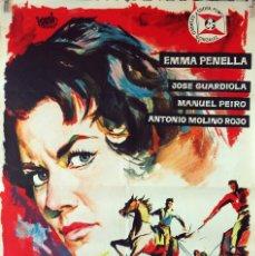 Cine: SENTENCIA CONTRA UNA MUJER. ANTONIO ISASI-ISASMENDI-EMMA PENELLA. CARTEL ORIGINAL 1961. 70X100. Lote 103229587