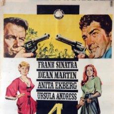 Cine: 4 TIOS DE TEXAS. FRANK SINATRA-DEAN MARTIN-URSULA ANDRESS-ANITA EKBERG. CARTEL ORIGINAL 1964. 70X100. Lote 103230091