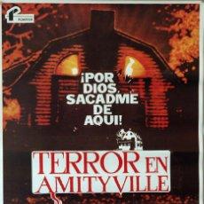 Cine: TERROR EN AMITYVILLE. STUART ROSENBERG-ROD STEIGER. CARTEL ORIGINAL 1979. 70X100. Lote 103231067