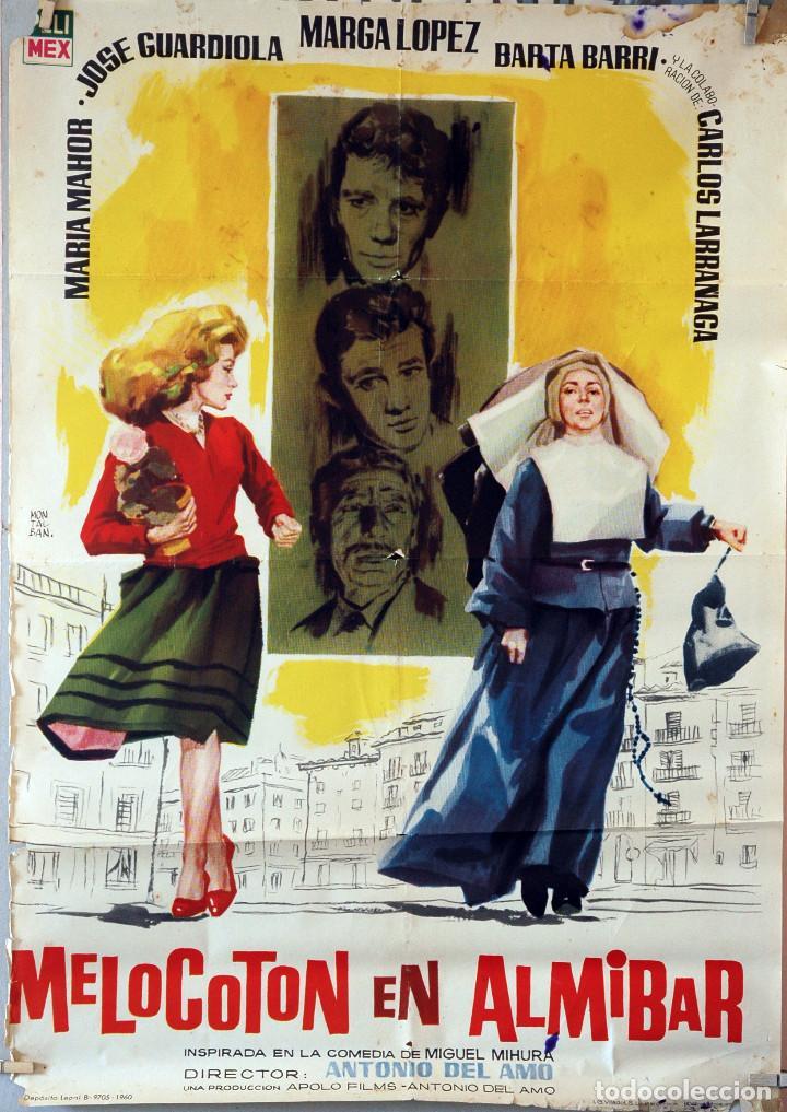 MELOCOTÓN EN ALMIBAR. ANTONIO DEL AMO-CARLOS LARRAÑAGA. CARTEL ORIGINAL 1960. 70X100 (Cine - Posters y Carteles - Clasico Español)
