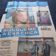 Cine: MARISOL EN BUSQUEMA A ESA CHICA // MIDE 67 X 98 CMS. // ORIGINAL EPOCA. Lote 103284195