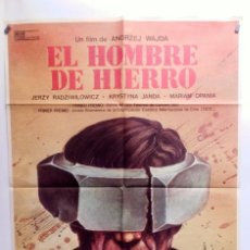 Cine: EL HOMBRE DE HIERRO ANDRZEJ WAJDA, 1981 CARTEL ORIGINAL 100X70 CMS.. Lote 103369419