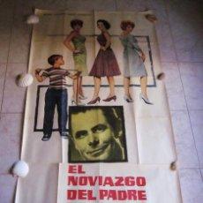 Cine: EL NOVIAZGO DEL PADRE DE EDDIE. GLEN FORD, SHIRLEY JONES. AÑO 1963. POSTER 3 PIEZAS. Lote 103381011