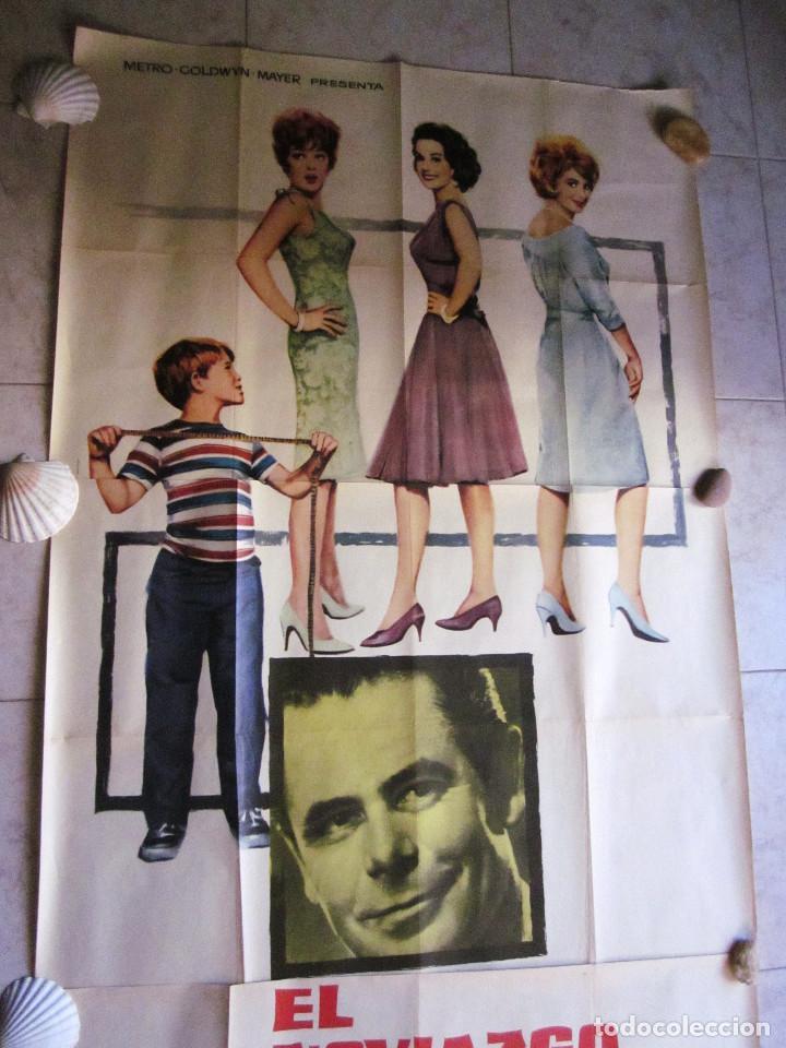 Cine: EL NOVIAZGO DEL PADRE DE EDDIE. GLEN FORD, SHIRLEY JONES. AÑO 1963. POSTER 3 PIEZAS - Foto 2 - 103381011