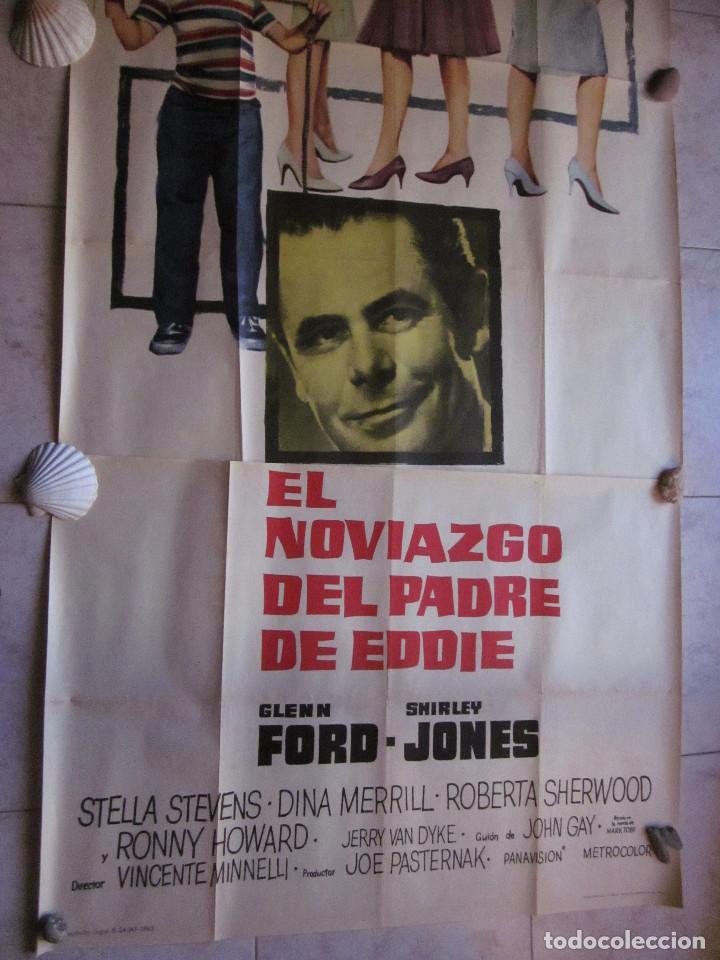 Cine: EL NOVIAZGO DEL PADRE DE EDDIE. GLEN FORD, SHIRLEY JONES. AÑO 1963. POSTER 3 PIEZAS - Foto 3 - 103381011