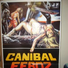 Cine: CANIBAL FEROZ CANNIBAL FEROX UMBERTO LENZI POSTER ORIGINAL 70X100 POSIBILIDAD DE BLU RAY. Lote 103415011
