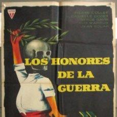 Cine: YB68 LOS HONORES DE LA GUERRA JEAN DEWEVER ALBERT HEHN POSTER ORIGINAL 70X100 ESTRENO. Lote 103418343