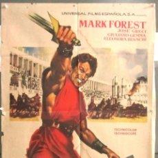 Cine: YB59 LOS TRES INVENCIBLES MARK FOREST MACISTE PEPLUM POSTER ORIGINAL 70X100 ESTRENO. Lote 103420887