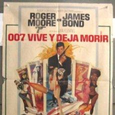 Cine: YB48 007 VIVE Y DEJA MORIR JAMES BOND ROGER MOORE POSTER ORIGINAL ESTRENO 70X100. Lote 103480755