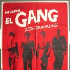 Cine: YB38 THE GANG LOS GRANUJAS ALAIN DELON POSTER ORIGINAL 70X100 ESTRENO. Lote 103486875