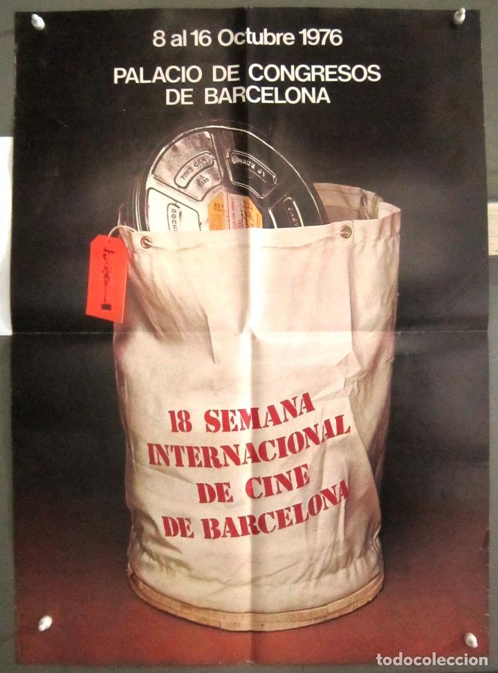 YB12 FESTIVAL 18 SEMANA INTERNACIONAL DE CINE DE BARCELONA 1976 POSTER ORIGINAL 50X70 (Cine - Posters y Carteles - Clasico Español)