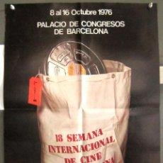 Cine: YB12 FESTIVAL 18 SEMANA INTERNACIONAL DE CINE DE BARCELONA 1976 POSTER ORIGINAL 50X70. Lote 103491715