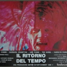 Cine: YB14 RE-SONATOR FROM BEYOND STUART GORDON H P LOVECRAFT SET COMPLETO 6 POSTERS ORIG ITALIANOS 47X68. Lote 103492107