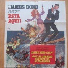 Cine: CARTEL CINE, 007 AL SERVICIO SECRETO DE SU MAJESTAD, JAMES BOND, ROGER MOORE, 1969, C1184. Lote 114754467