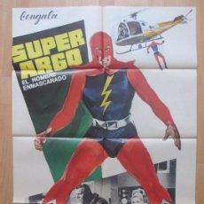 Cine: CARTEL CINE, SUPER ARGO EL HOMBRE ENMASCARADO, KEN WOOD, MCP, 1967, C1203. Lote 103621587