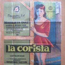 Cine: CARTEL CINE, LA CORISTA, MARUJITA DIAZ, MANOLO GOMEZ-BUR, 1960, C1204. Lote 103621927