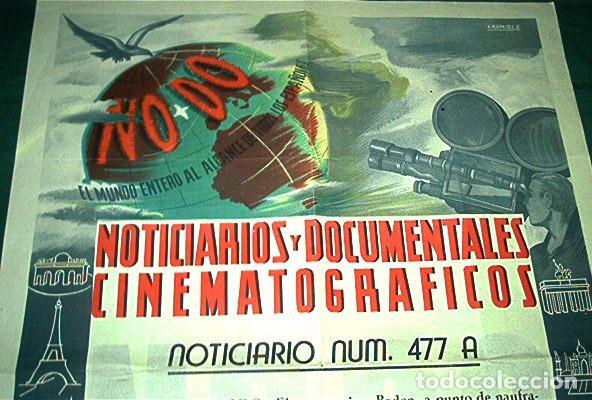 AÑOS 40, CARTEL DEL NODO. CINE. INFORMATIVO DEL NOTICIARIO UNIVERSAL. (Cine - Posters y Carteles - Documentales)