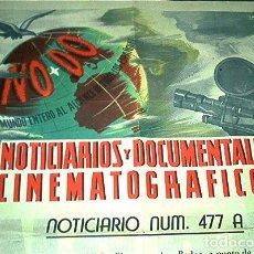 Cine: AÑOS 40, CARTEL DEL NODO. CINE. INFORMATIVO DEL NOTICIARIO UNIVERSAL.. Lote 103624327