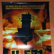 Cine: CARTEL DE CINE ORIGINAL - U-571 - AÑO 2000 - 69X100CM.. Lote 103672495