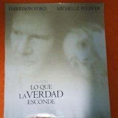 Cine: CARTEL DE CINE ORIGINAL - LO QUE LA VERDAD ESCONDE - AÑO 2000 - 67X99CM.. Lote 103673963