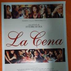 Cine: CARTEL DE CINE ORIGINAL - LA CENA - AÑO 1998 - 67X96CM.. Lote 103676695