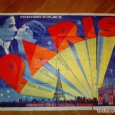 Cine: CARTEL DEL ESTRENO ESPAÑOL DE LA PELÍCULA MUSICAL PARIS (1929). PRODUCCION FIRST NATIONAL VITAPHONE. Lote 103809323