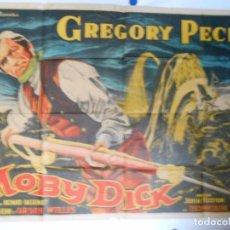Cine: MOBY DICK - CARTEL ORIGINAL ARGENTINO LITOGRAFICO - 100 X 140 EN UNA SOLA PIEZA. Lote 103913803