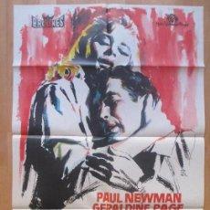 Cine: CARTEL CINE, DULCE PAJARO DE JUVENTUD, PAUL NEWMAN, GERALDINE PAGE, 1963, MONTALBAN, C1212. Lote 103991523