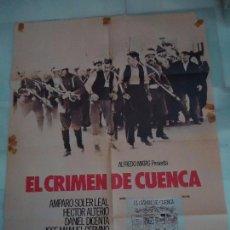 Cine: CARTEL. ORIGINAL, EL CRIMEN DE CUENCA. MEDIDAS. 100X70. Lote 104091295