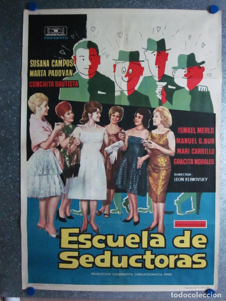 ESCUELA DE SEDUCTORAS. SUSANA CAMPOS, MARTA PADOVAN, CONCHA VELASCO,ISMAEL MERLO,MARI CARRILLO 1962 (Cine - Posters y Carteles - Clasico Español)
