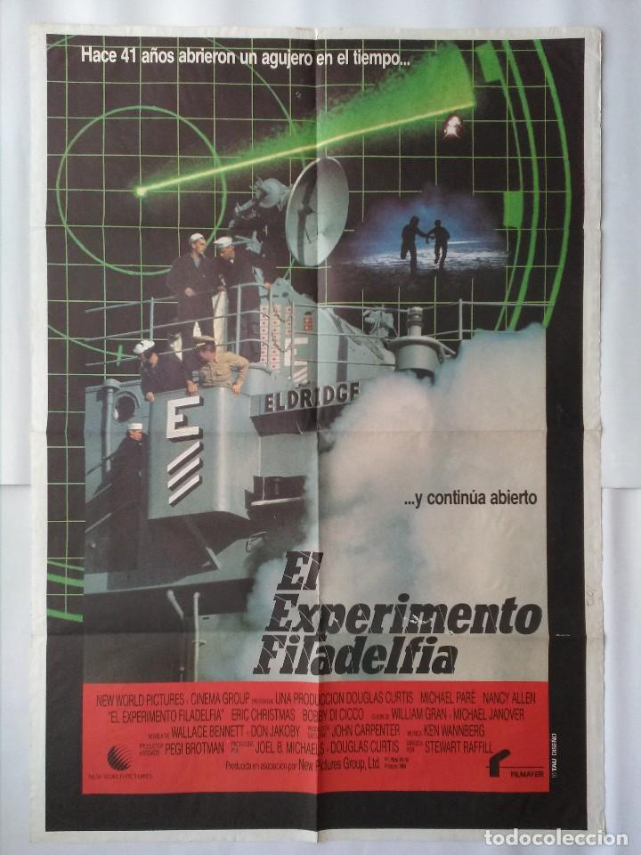 CARTEL CINE, EL EXPERIMENTO FILADELFIA. MICHAEL PARE, NANCY ALLEN, POSTER ORIGINAL, C-86 (Cine - Posters y Carteles - Bélicas)