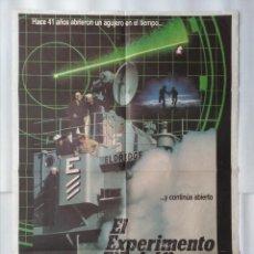 Cinema: CARTEL CINE, EL EXPERIMENTO FILADELFIA. MICHAEL PARE, NANCY ALLEN, POSTER ORIGINAL, C-86. Lote 105216787