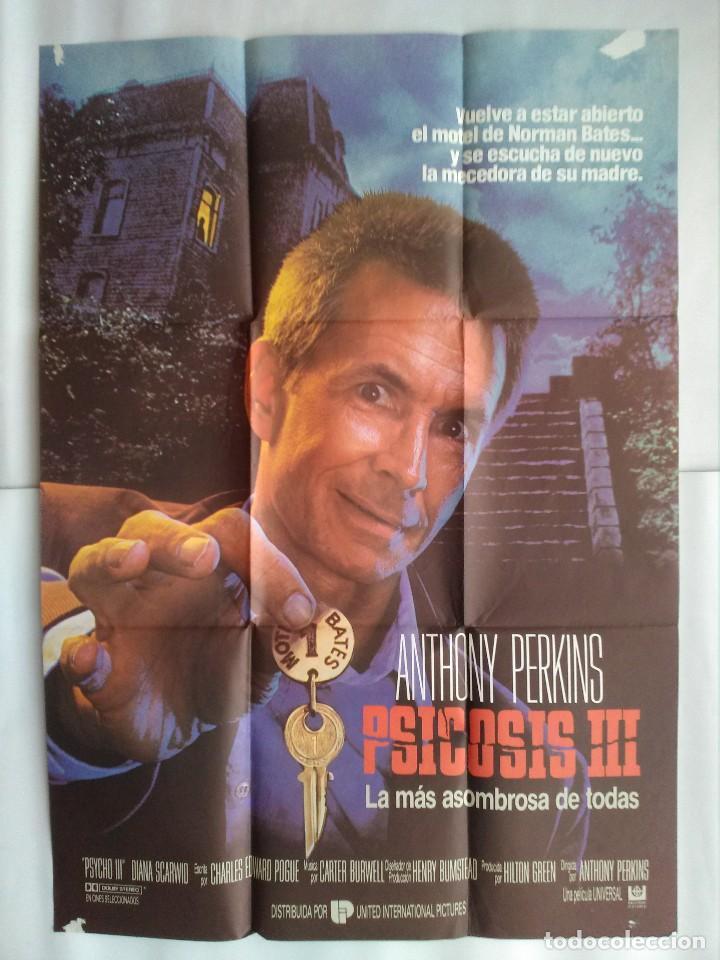 CARTEL CINE, PSICOSIS III, ANTHONY PERKINS, POSTER ORIGINAL C-93 (Cine - Posters y Carteles - Terror)