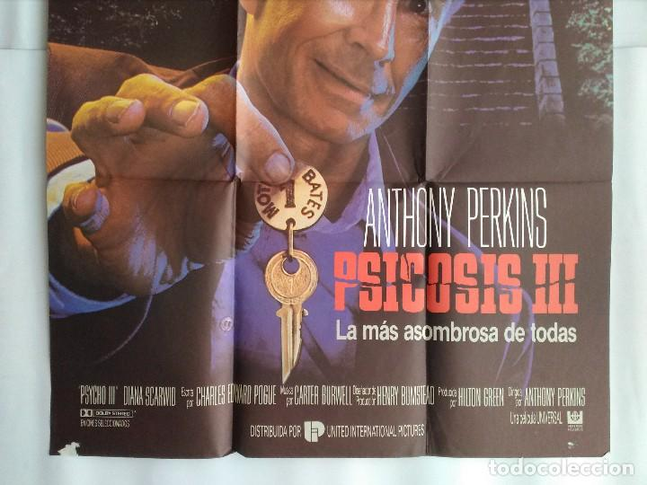 Cine: CARTEL CINE, PSICOSIS III, ANTHONY PERKINS, POSTER ORIGINAL C-93 - Foto 3 - 105230343
