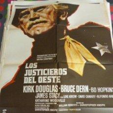 Cine: CARTEL DE CINE- MOVIE POSTER. LOS JUSTICIEROS DEL OESTE. Lote 105352207