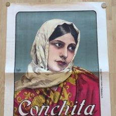 Cine: CARTEL ORIGINAL DE CONCHITA PIQUER , AÑOS 20 ILUST. VINFER , LIT FERNANDEZ MADRID. Lote 105431812