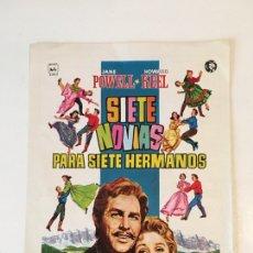Cine: CARTEL CINE 7 NOVIAS PARA 7 NOVIOS. Lote 105572606