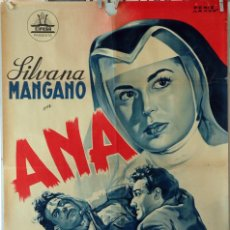 Cine: ANA. SILVANA MANGANO-RAF VALLONE-VITTORIO GASSMANN. LITOGRAFÍA ORIGINAL. 70X100. Lote 105655623