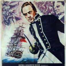 Cine: REBELIÓN A BORDO. MARLON BRANDO-TREVOR HOWARD. CARTELORIGINAL 1962. 70X100. Lote 105656271
