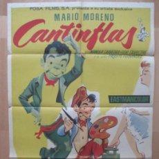 Cine: CARTEL CINE, EL BOLERO DE RAQUEL, CANTINFLAS, MARIO MORENO, 1963, C1216. Lote 105971135