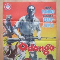 Cine: CARTEL CINE, ODONGO, RHONDA FLEMING, MACDONALD CAREY JUMA, , C1224. Lote 105973751