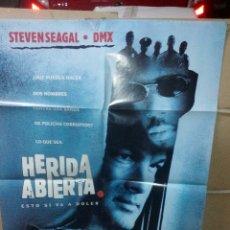 Cine: HERIDA ABIERTA STEVEN SEAGAL POSTER ORIGINAL 70X100 YY(1720). Lote 105977912