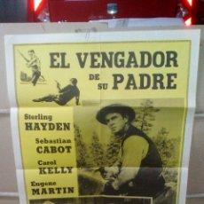 Cine: EL VENGADOR DE SU PADRE STERLING HAYDEN WESTERN POSTER ORIGINAL 80X60 YY (1729)AMERICANO. Lote 105981972