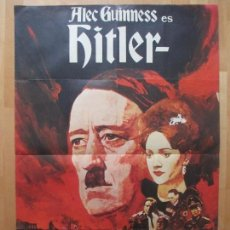 Cine: CARTEL CINE, HITLER, ALEC GUINNESS, SIMON WARD, 1973, C1227. Lote 105988343