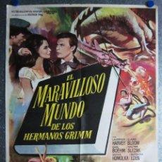 Cine: EL MARAVILLOSO MUNDO DE LOS HERMANOS GRIMM. LAURENCE HARVEY, KARLHEINZ BÖHM, CLAIRE BLOOM - AÑOS 60. Lote 105993603