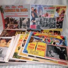 Cine: LOTAZO DE 80 ANTIGUAS CARTELERAS-LOBBY CARDS - ORIGINALES AÑOS 50-60.. Lote 106088171