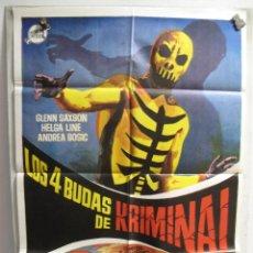 Cine: GND2559 LOS CUATRO BUDAS DE KRIMINAL. Lote 106359491