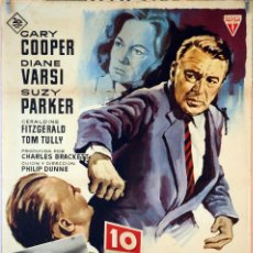 Cine: 10 CALLE FREDERICK. GARY COOPER. CARTEL ORIGINAL 1964 70X100. Lote 106542879