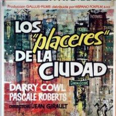 Cine: LOS PLACERES DE LA CIUDAD. JEAN GIRAULT. CARTEL ORIGINAL 1962. 70X100. Lote 106543315