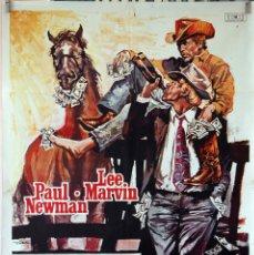 Cine: LOS INDESEABLES. PAUL NEWMAN-LEE MARVIN. CARTEL ORIGINAL 1972. 70X100. Lote 106544779